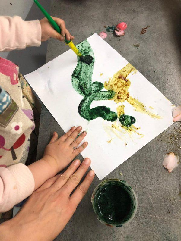 pintura de petalos