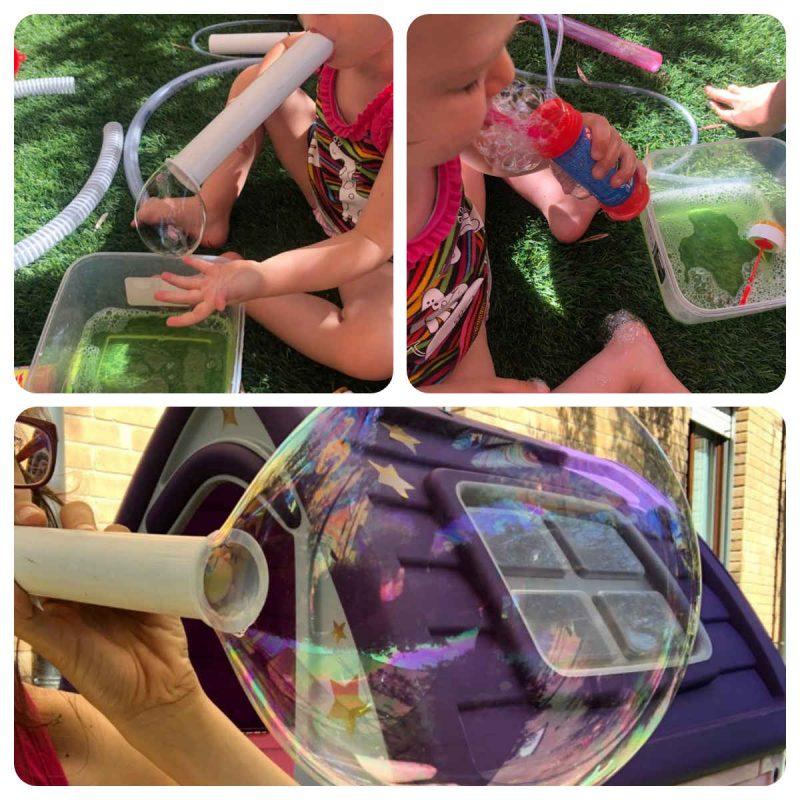 burbujas caseras con tubos