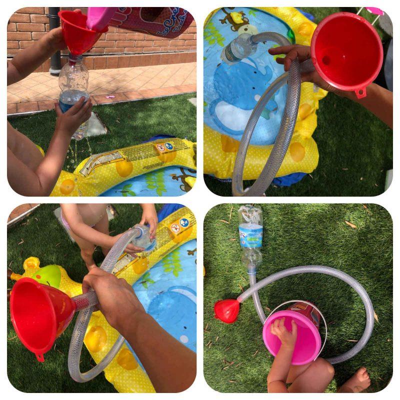 jugar con agua niños