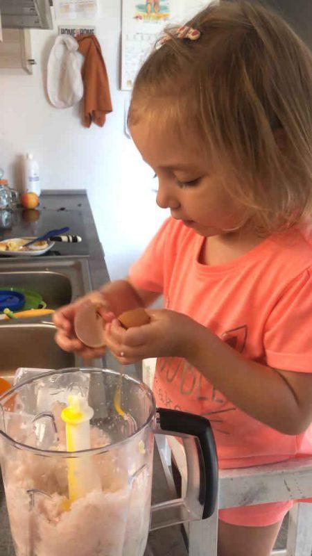 autonomia niños cocina