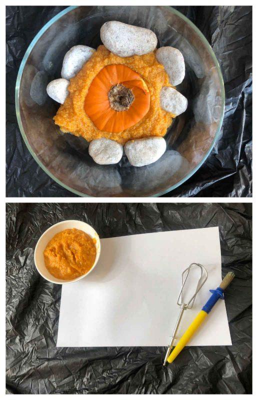 recetas de pintura comestible de calabaza
